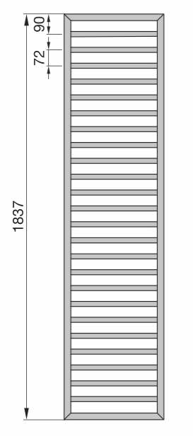 Zehnder Subway SUB-180-060 Badheizkörper 60 x 183,7 cm