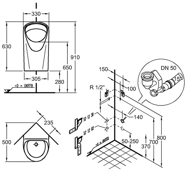 keramag aller eck urinal megabad. Black Bedroom Furniture Sets. Home Design Ideas