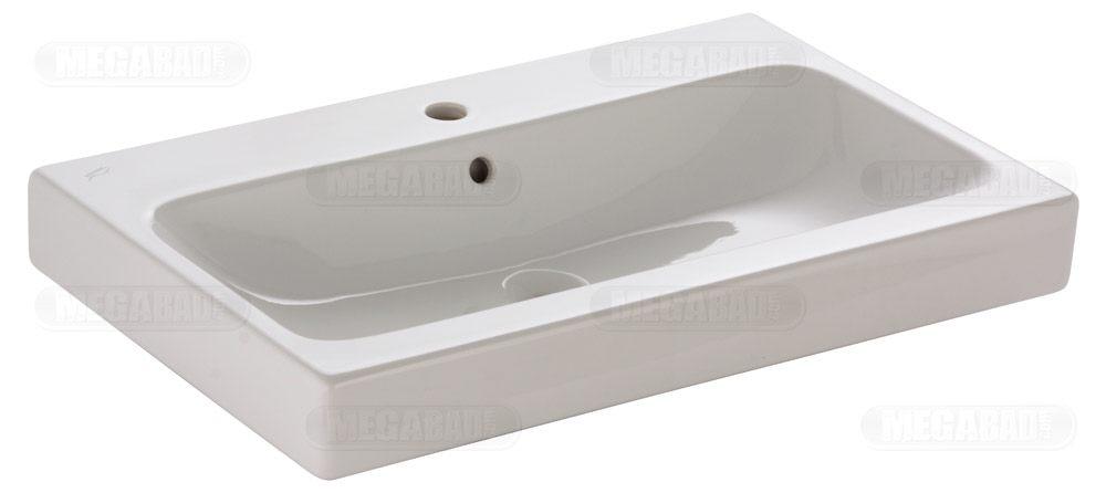 keramag icon waschtisch 75 cm mit hahnloch 124075000 megabad. Black Bedroom Furniture Sets. Home Design Ideas