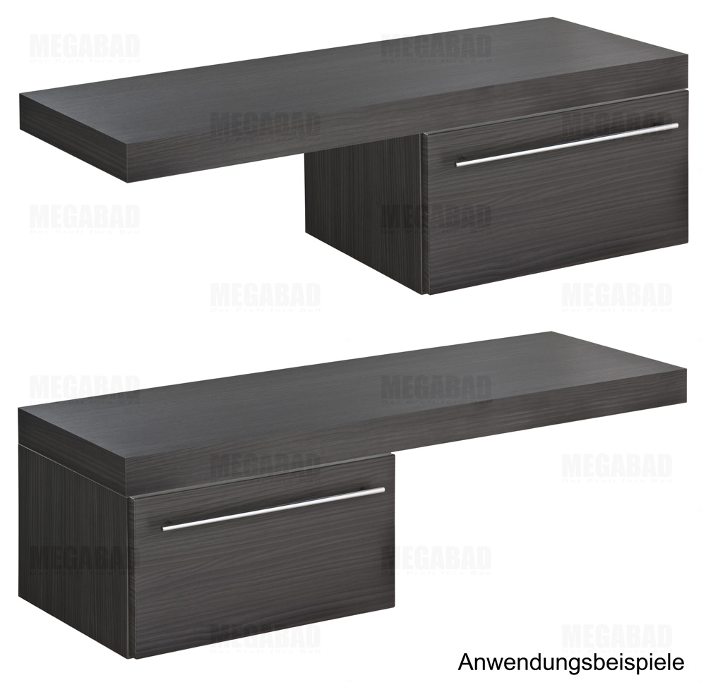 architekt 100 unterschrank f r konsole 40 cm mit 1 auszug megabad. Black Bedroom Furniture Sets. Home Design Ideas