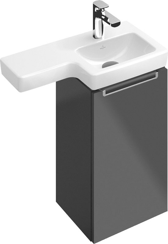 villeroy boch subway 2 0 waschtischunterschrank 35 cm anschlag rechts a81701 ms megabad. Black Bedroom Furniture Sets. Home Design Ideas