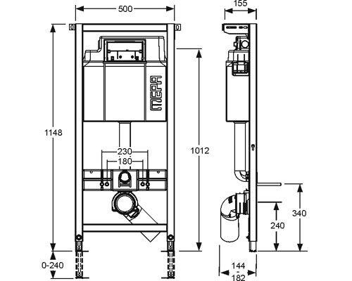 mepa varivit wc element sp lkasten sanicontrol typ a31 120 cm megabad. Black Bedroom Furniture Sets. Home Design Ideas