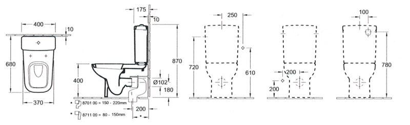 villeroy boch joyce stand wc f r kombination megabad. Black Bedroom Furniture Sets. Home Design Ideas