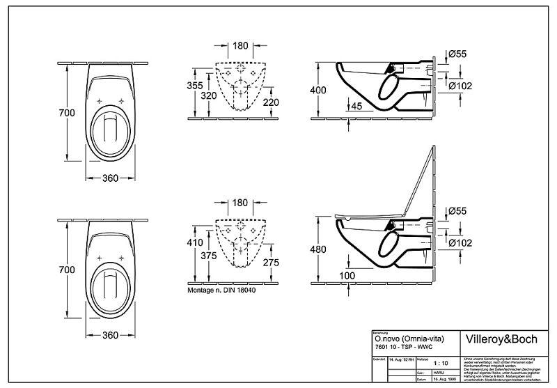 villeroy boch vita wand tiefsp lklosett 76011001. Black Bedroom Furniture Sets. Home Design Ideas