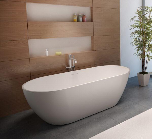 riho bilbao freistehende badewanne 150 x 75 cm bs12 megabad. Black Bedroom Furniture Sets. Home Design Ideas