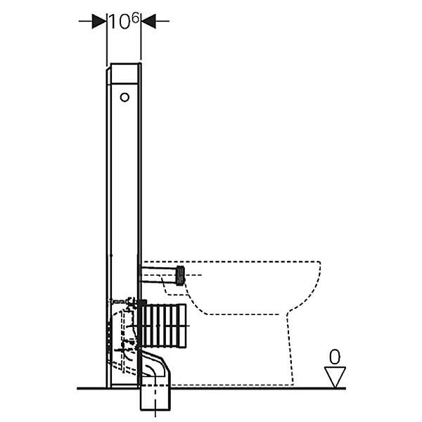 geberit monolith plus sanit rmodul f r stand wc 101 cm. Black Bedroom Furniture Sets. Home Design Ideas