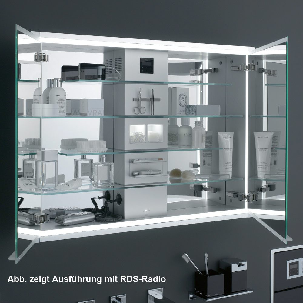 emco asis prestige led lichtspiegelschrank 98 7 cm aufputzmodell ohne radio 989706021 megabad. Black Bedroom Furniture Sets. Home Design Ideas