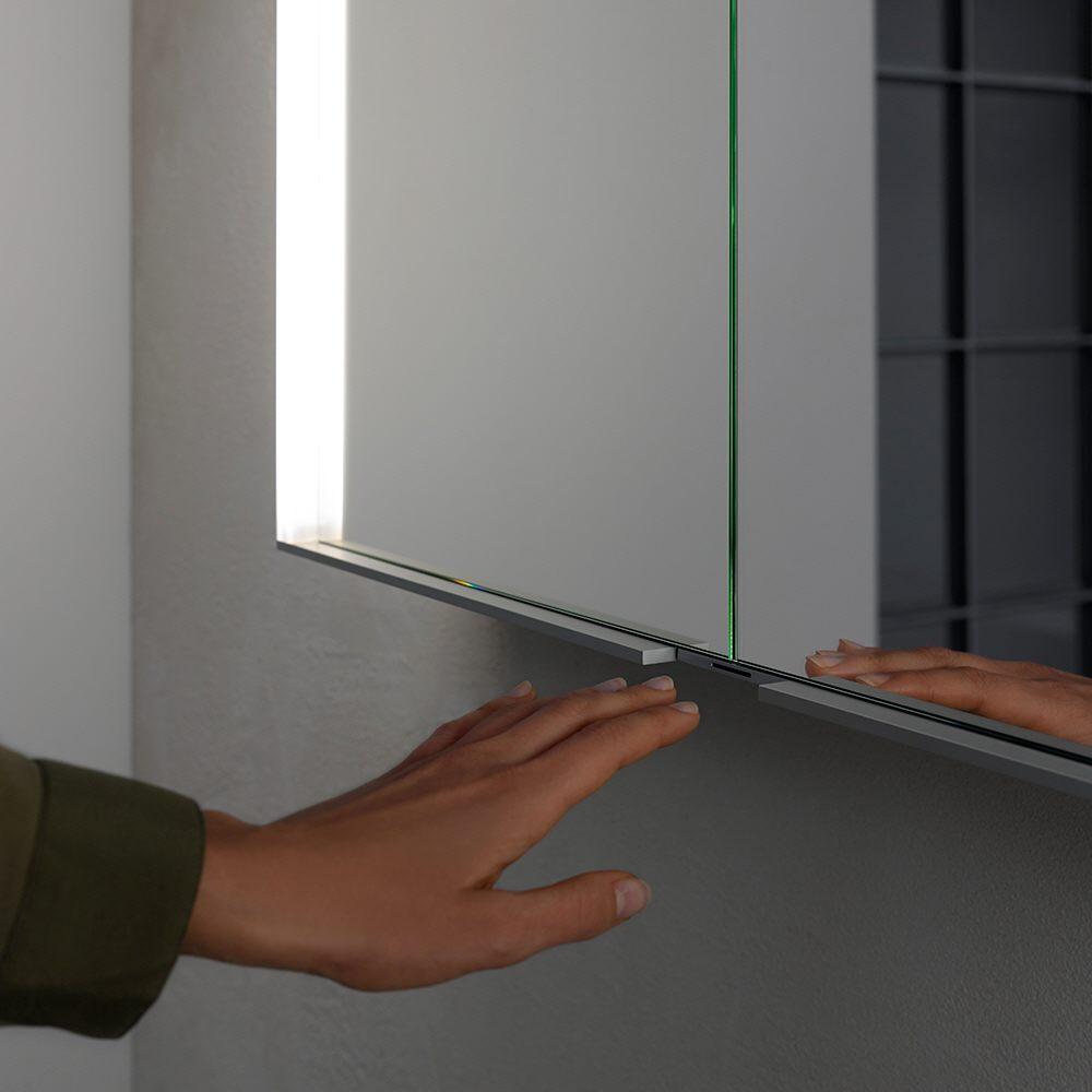 keuco royal match spiegelschrank 80 x 70 cm 12802171301 megabad. Black Bedroom Furniture Sets. Home Design Ideas