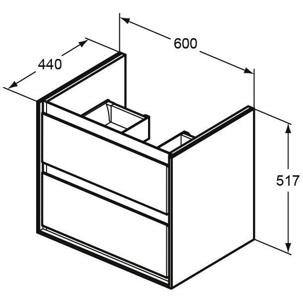 ideal standard connect air m belwaschtisch unterschrank 60. Black Bedroom Furniture Sets. Home Design Ideas