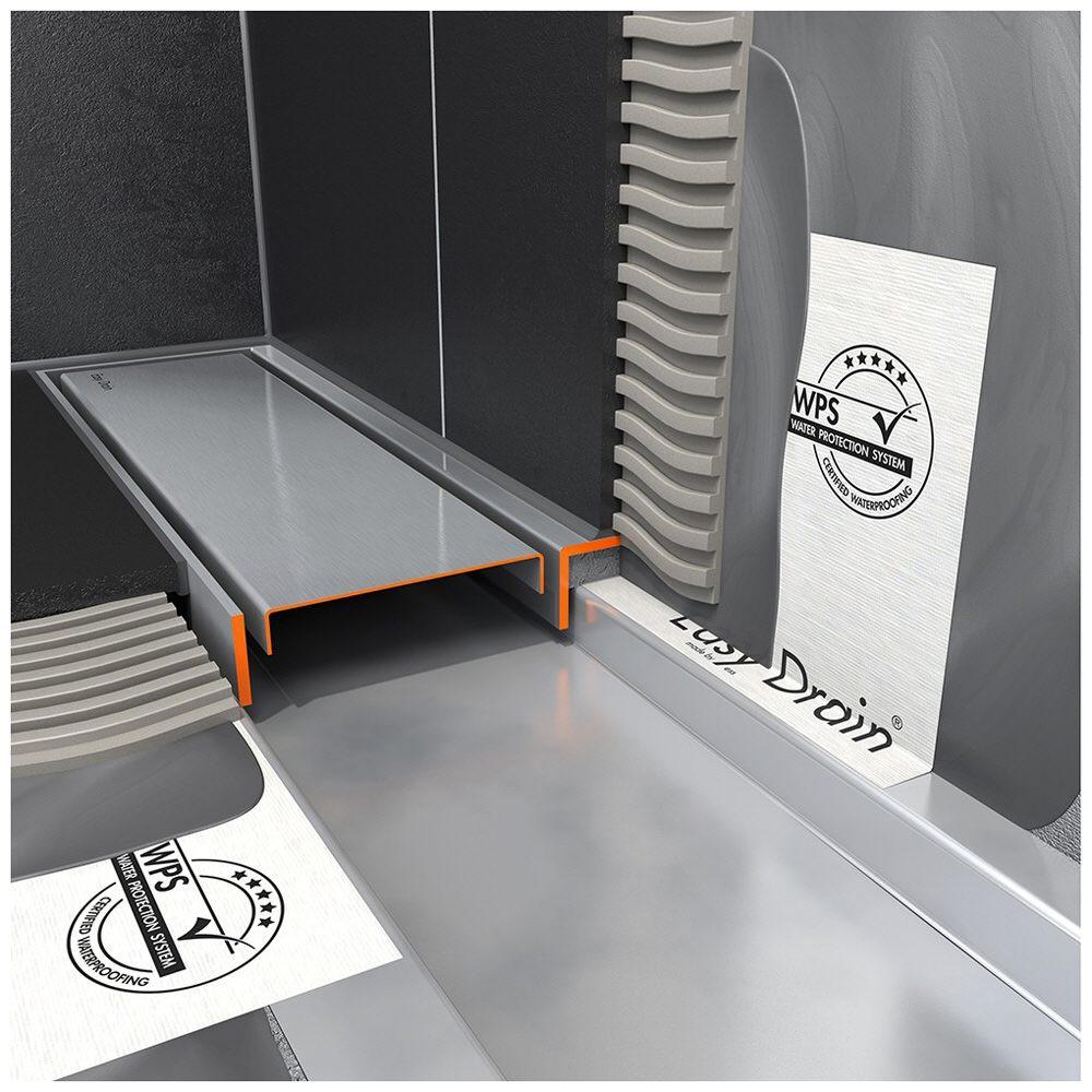 ess easy drain multi taf wall 1400 zero fliese duschrinne komplettset edmtafw 1400 megabad. Black Bedroom Furniture Sets. Home Design Ideas