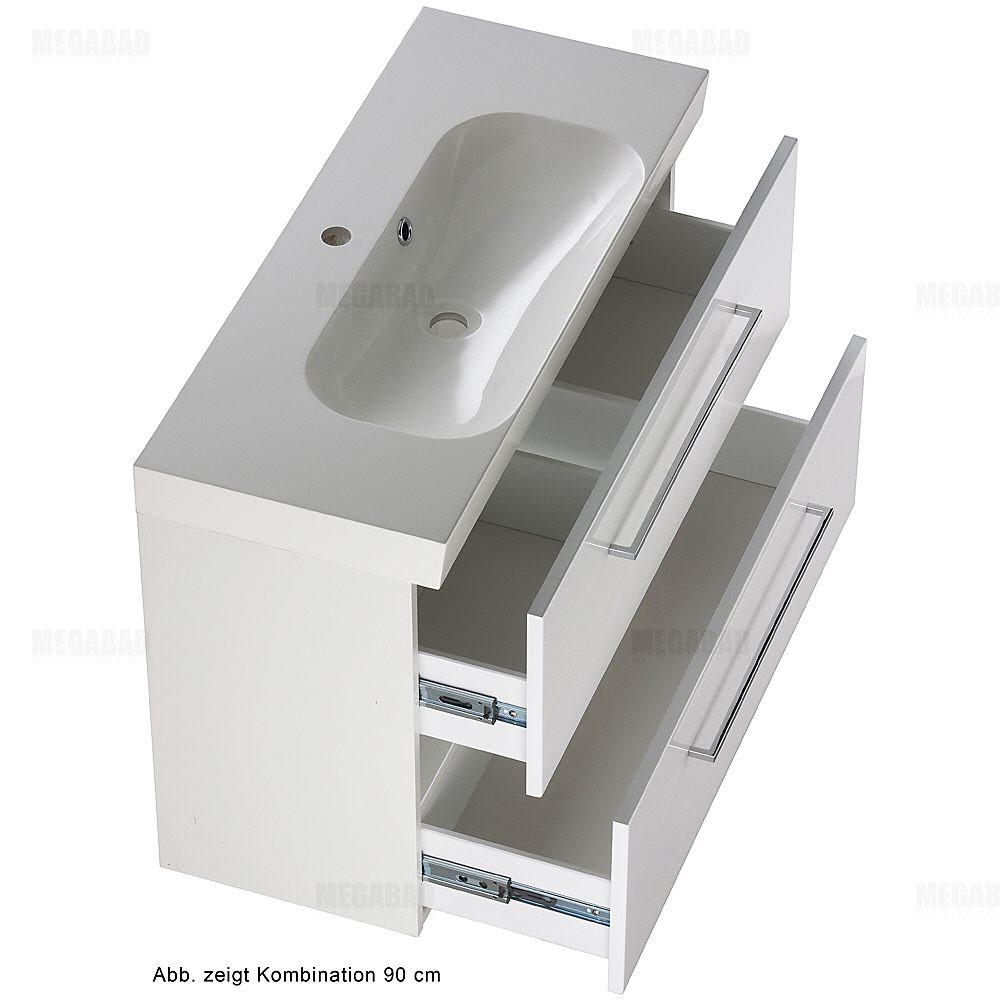 architekt 200 kompakt waschtischkombination 60 cm mit unterschrank mbsbu60w megabad. Black Bedroom Furniture Sets. Home Design Ideas