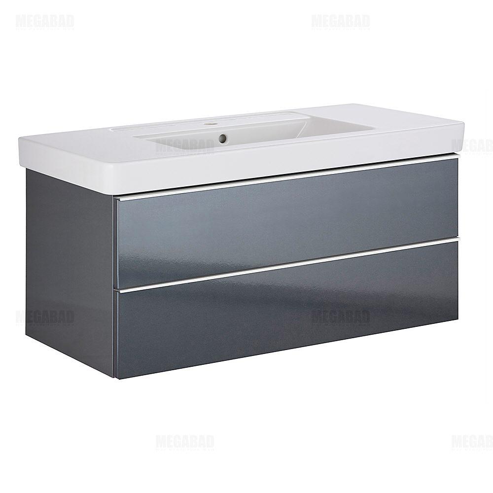 architekt 100a wtu mit 2 ausz gen und griffleiste f r v b architectura waschtisch 100 cm. Black Bedroom Furniture Sets. Home Design Ideas