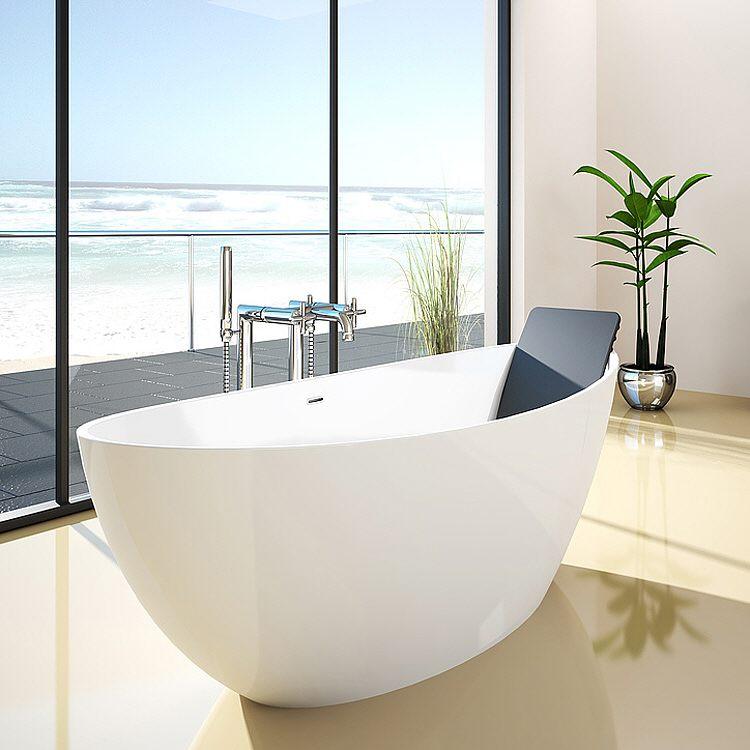 hoesch namur oval badewanne 190 x 90 cm freistehend megabad. Black Bedroom Furniture Sets. Home Design Ideas