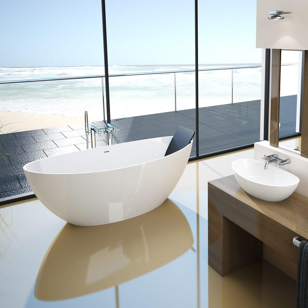 hoesch namur oval badewanne 180 x 80 cm freistehend megabad. Black Bedroom Furniture Sets. Home Design Ideas
