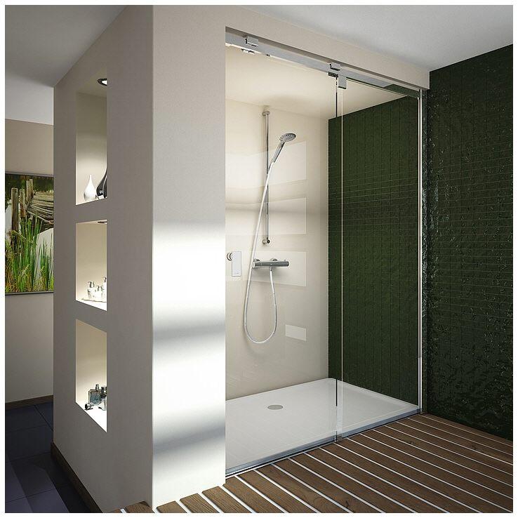hoesch muna duschabtrennung f r nische 130 cm links megabad. Black Bedroom Furniture Sets. Home Design Ideas