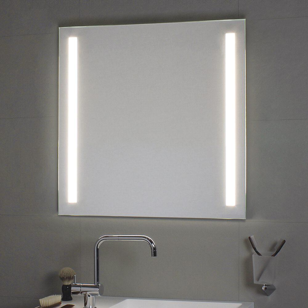 koh i noor spiegel 90 x 90 cm mit seitlichen led streifen megabad. Black Bedroom Furniture Sets. Home Design Ideas