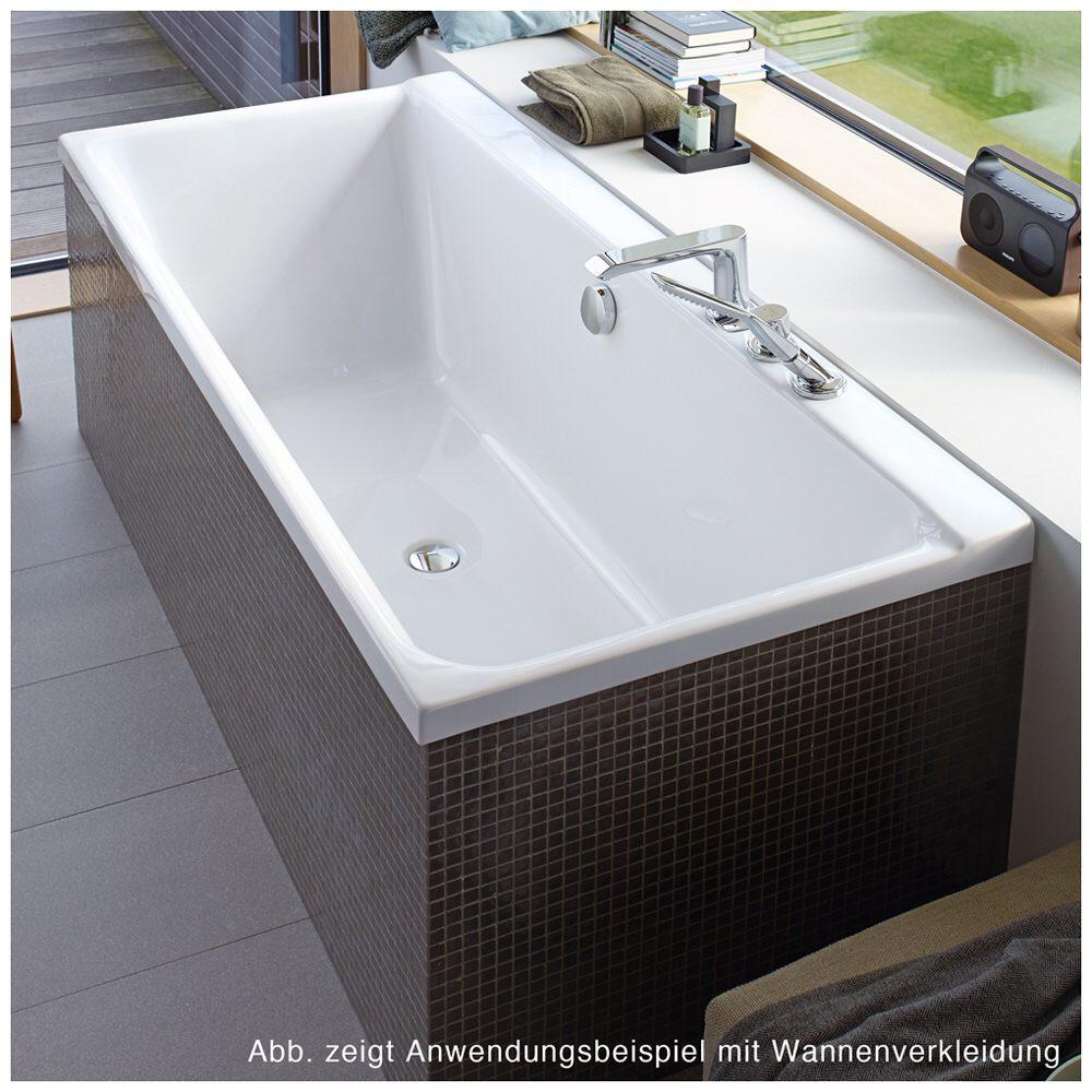 duravit p3 comforts badewanne rechteck 180 x 80 cm mit 2 r ckenschr gen 700377000000000 megabad. Black Bedroom Furniture Sets. Home Design Ideas