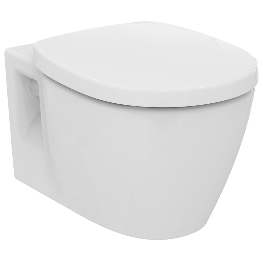 ideal standard connect wand wc sp lrandlos kombipaket mit wc sitz k296001 megabad. Black Bedroom Furniture Sets. Home Design Ideas