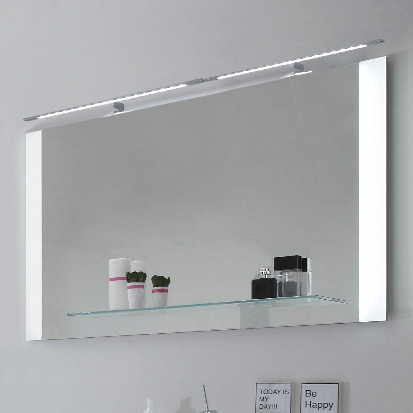 spiegel mit led beleuchtung megabad. Black Bedroom Furniture Sets. Home Design Ideas