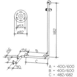 keuco plan care duschhandlauf mit brausestange 34908016411 megabad. Black Bedroom Furniture Sets. Home Design Ideas