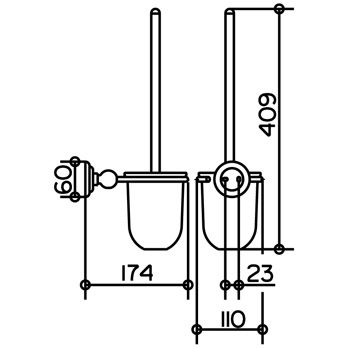keuco astor toilettenb rstengarnitur komplett 02164019000 megabad. Black Bedroom Furniture Sets. Home Design Ideas
