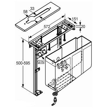keuco montageblock f r 4 loch wannenrandarmaturen. Black Bedroom Furniture Sets. Home Design Ideas
