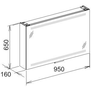keuco edition 300 spiegelschrank 95 cm 30203171201 megabad. Black Bedroom Furniture Sets. Home Design Ideas