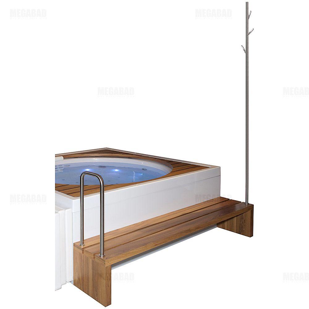 duravit blue moon bank bzw einstiegshilfe mit kleiderbaum u haltegriff megabad. Black Bedroom Furniture Sets. Home Design Ideas