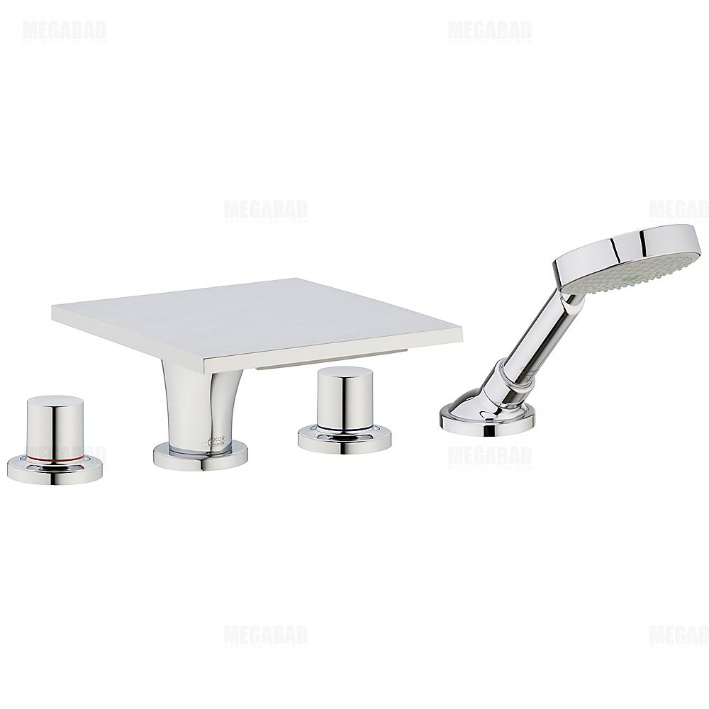axor massaud 4 loch armatur 18440000 f r wannenrandmontage. Black Bedroom Furniture Sets. Home Design Ideas