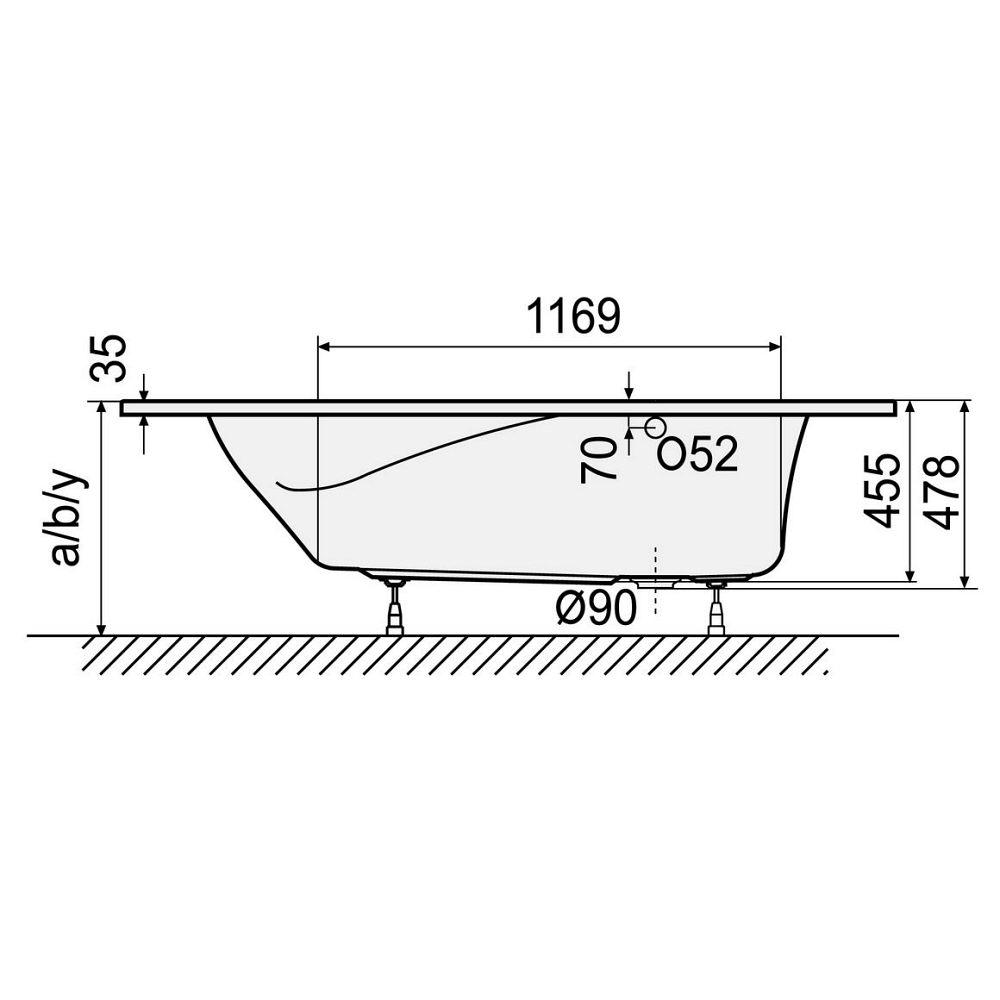 Duscholux Cordoba 534 Free-Line Sechseckwanne 200 x 85 cm - MEGABAD | {Sechseckwanne 43}