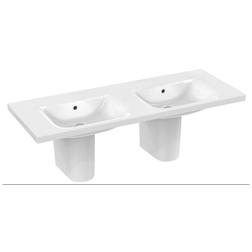 ideal standard connect m beldoppelwaschtisch 130 cm ohne. Black Bedroom Furniture Sets. Home Design Ideas