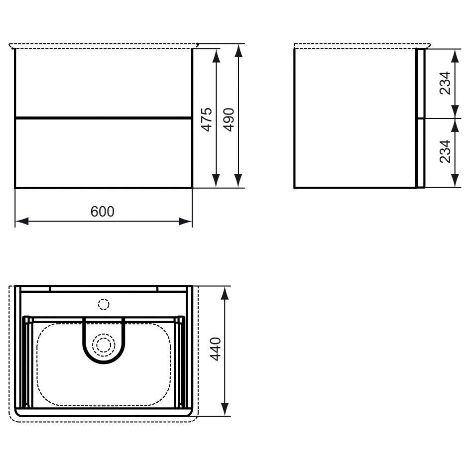 ideal standard softmood waschtischunterschrank 60 cm megabad. Black Bedroom Furniture Sets. Home Design Ideas