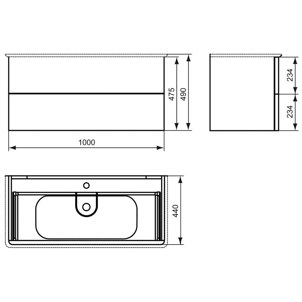 ideal standard softmood waschtischunterschrank 100 cm art t7802wg megabad. Black Bedroom Furniture Sets. Home Design Ideas