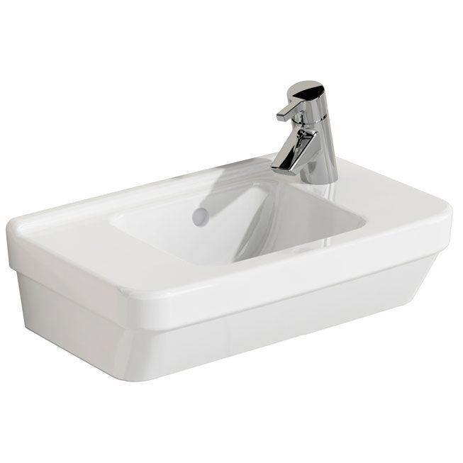 vitra s50 handwaschbecken 50 x 28 cm mit hahnloch rechts megabad. Black Bedroom Furniture Sets. Home Design Ideas