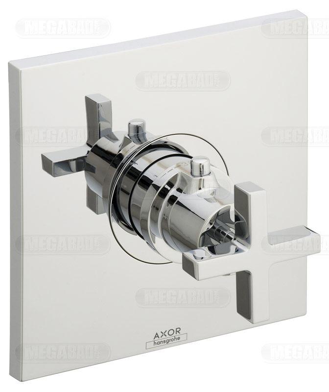 axor citterio highflow thermostatbatterie kreuzgriff up megabad. Black Bedroom Furniture Sets. Home Design Ideas