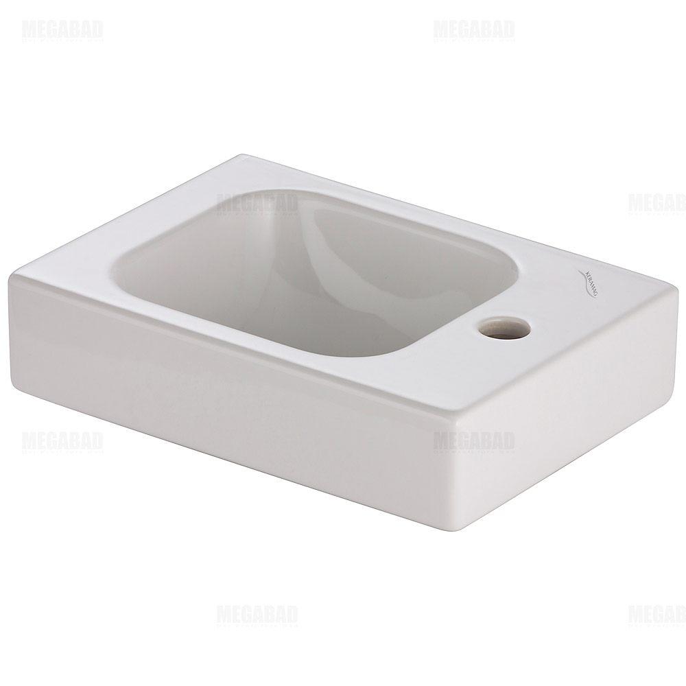 keramag icon xs handwaschbecken 38 cm m hahnloch rechts. Black Bedroom Furniture Sets. Home Design Ideas