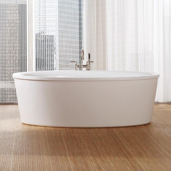 repabad vasa 190 f freistehende oval badewanne mit sch rze. Black Bedroom Furniture Sets. Home Design Ideas