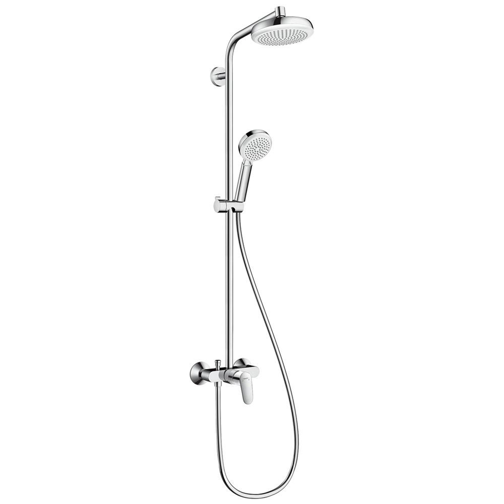 hansgrohe crometta 160 1jet showerpipe mit einhebelmischer. Black Bedroom Furniture Sets. Home Design Ideas