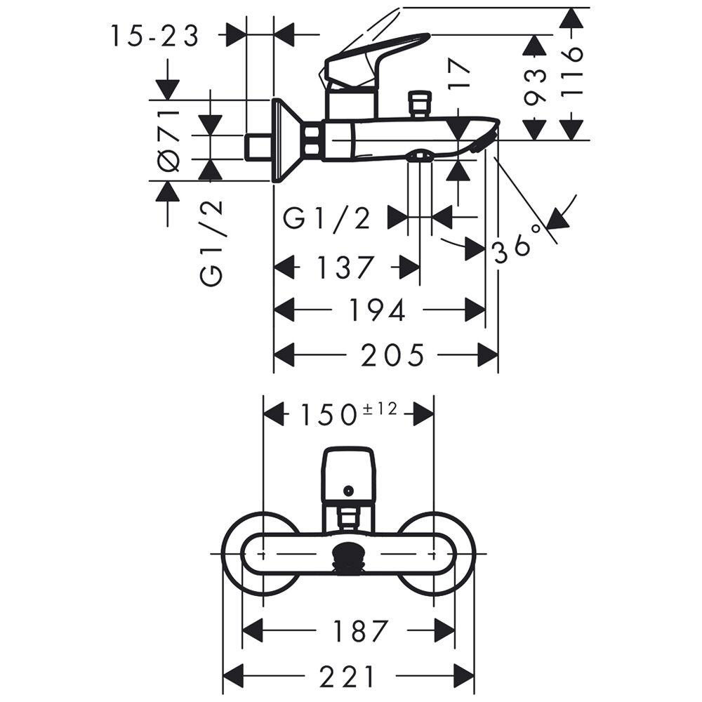 Смеситель Hansgrohe Focus E 31780000