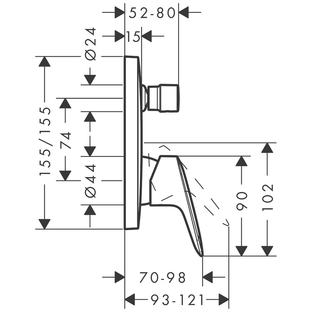 hansgrohe unterputz armatur latest hansgrohe thermostat unterputz metris chrom mit with. Black Bedroom Furniture Sets. Home Design Ideas