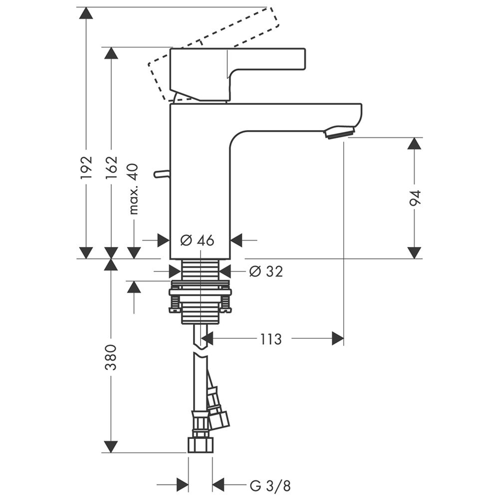 Einzigartig Hansgrohe Metris S Einhebel-Waschtischmischer 31060000 - MEGABAD RS67