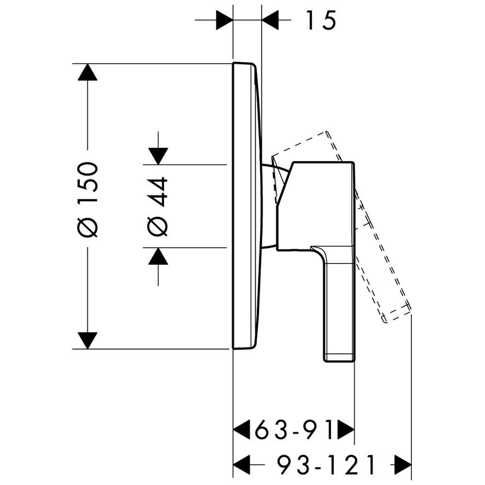 Unterputz Armatur Dusche Hansgrohe : Hansgrohe Metris S Einhebel-Brausemischer UP Art. 31665000 – MEGABAD