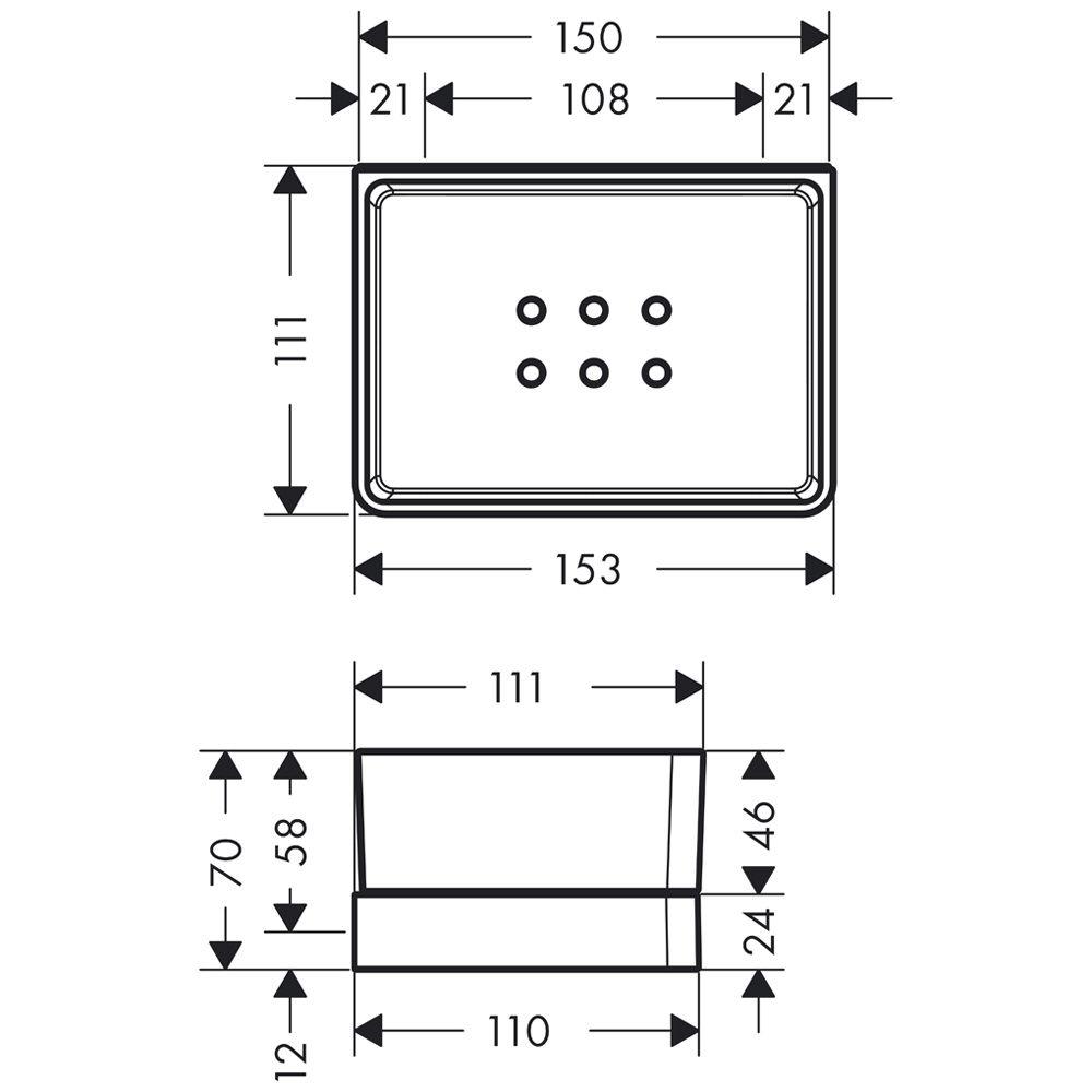 hansgrohe axor universal ablage f r dusche 42802000 megabad. Black Bedroom Furniture Sets. Home Design Ideas