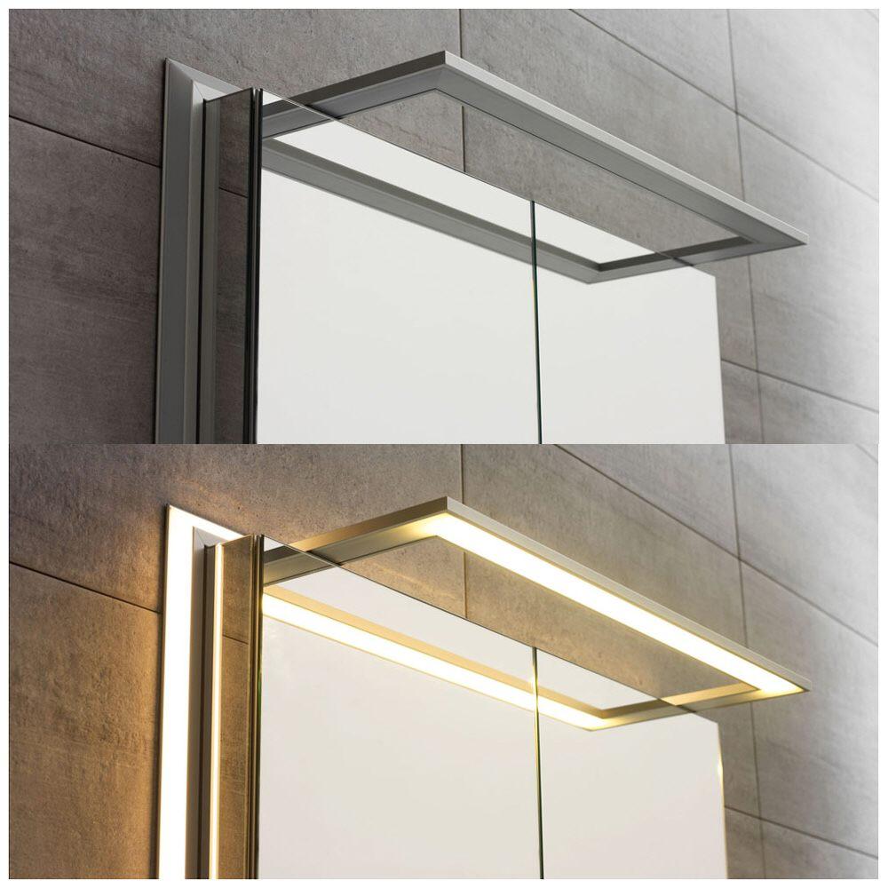 Spiegelschrank modern  Sprinz Modern Line Spiegelschrank Modell 02 100 x 70 cm ...