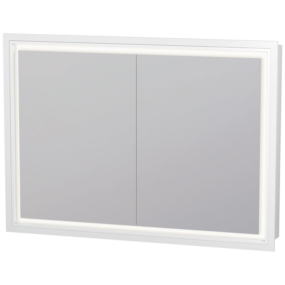 duravit l cube spiegelschrank einbauvariante mit led beleuchtung 100 x 70 cm lc765200000 megabad. Black Bedroom Furniture Sets. Home Design Ideas