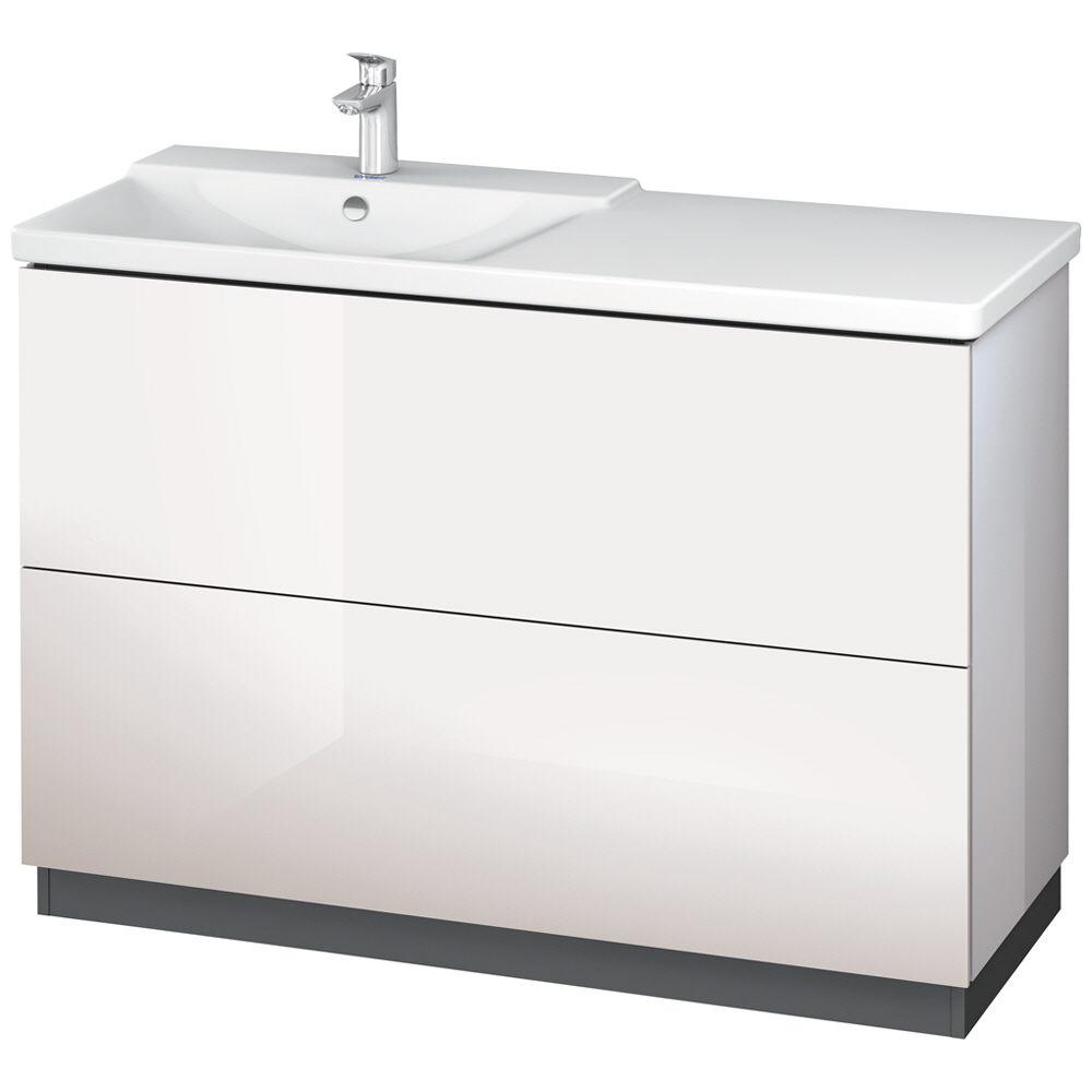 Duravit L-Cube Waschtischunterbau stehend mit 2 Auszügen, 120 x 48 ... | {Waschtischunterschrank stehend 82}