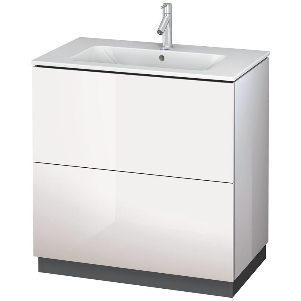Waschtischunterschrank stehend  Duravit L-Cube Waschtischunterbau stehend mit 2 Auszügen, 82 x 48 ...
