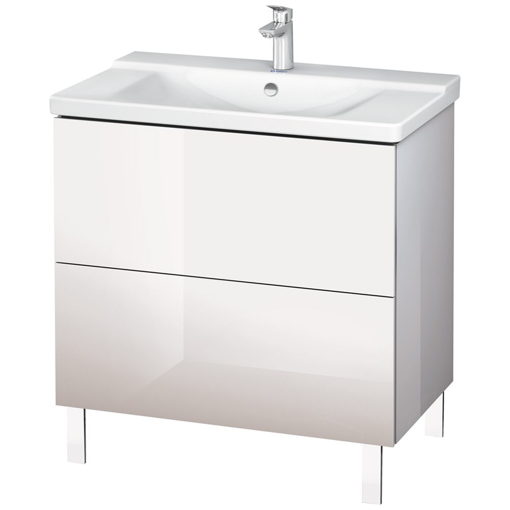 Duravit L-Cube Waschtischunterbau stehend mit 2 Auszügen, 82 x 48 ... | {Waschtischunterschrank stehend 9}