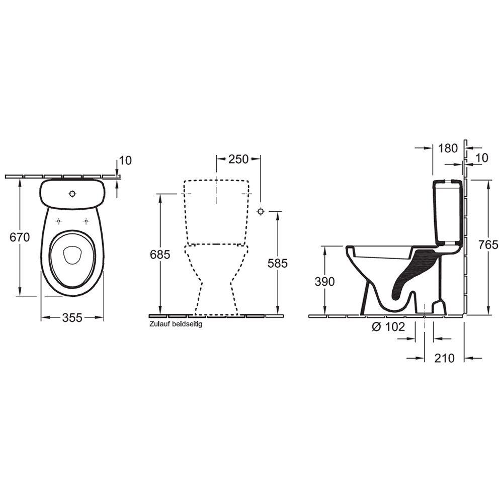 saval 2 0 stand tiefsp l wc mit aufgesetztem sp lkasten. Black Bedroom Furniture Sets. Home Design Ideas