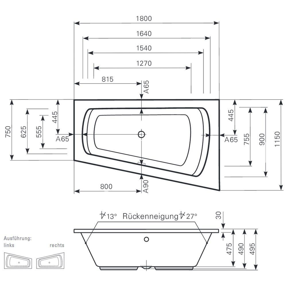 raumspar badewanne 180 energiemakeovernop. Black Bedroom Furniture Sets. Home Design Ideas